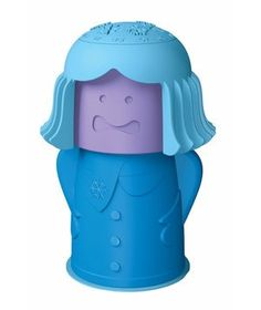 Get rid of funky fridge and freezer orders with Chilly Mama. She discreetly holds the perfect amount of baking soda, killing odors in your appliance for months. Her head disguises a clever calendar that keeps track of when she needs a refill.