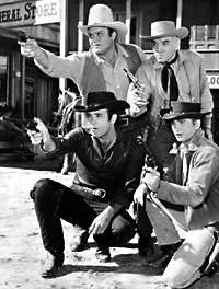 Pernell Roberts, Lorne Greene  Michael Landon, Dan Blocker ---- Our family watched many many episodes of Bonanza while I was growing up!