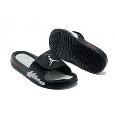 Mens Nike Jordan Hydro 5 Slippers Black White New Jordans Shoes 4251df239