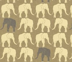 elephant_ivory fabric by holli_zollinger on Spoonflower - custom fabric