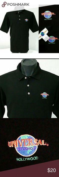 bd950f89 Vintage UNIVERSAL STUDIOS HOLLYWOOD Polo Shirt M Embroidered Universal  Studios Hollywood Golf Polo Shirt 100%