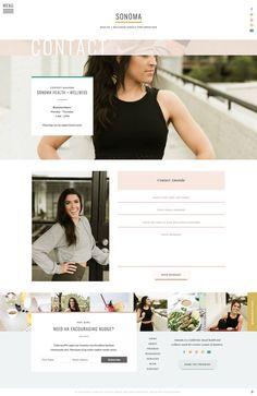 With Grace and Gold Design Websites, Web Design Trends, Web Design Tips, Blog Design, Design Ideas, Best Portfolio Wordpress Themes, Wordpress Theme Design, Website Design Layout, Website Design Inspiration