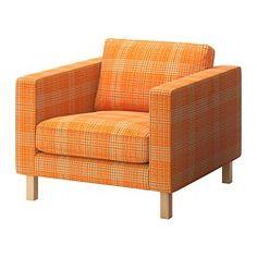 KARLSTAD Chair - Husie orange - IKEA love the blye, orange, grey, denim, and green for a reading chair
