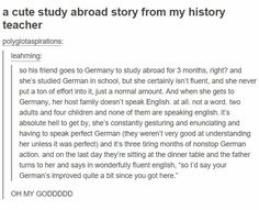 THAT'S the way to become fluent in a language, though. :) That's really funny and neat. Stupid Funny, Funny Cute, Really Funny, Hilarious, Funny Stuff, Random Stuff, Stupid Jokes, Funny Things, Funny Tumblr Posts