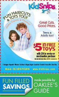 Save on that cut at KidSnips! Local Coupons, Great Cuts, Cool Toys, Teen, Movies, Films, Cinema, Movie, Film
