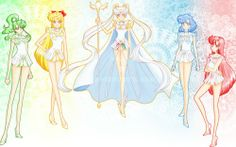 sailor cosmos and 4 guardians