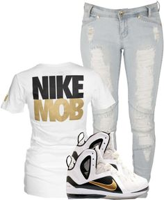 """NIKE MOB"" by mindlesslyamazing-143 ❤ liked on Polyvore"