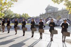 Modelos de Liu Jo en la Puerta de Alcalá