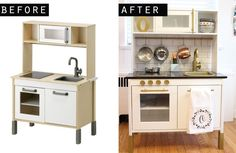 IKEA DUKTIG Play Kitchen Hack with full source list and step-by-step instructions