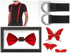 #papillon #butterfly #red #classy #classic #fashion #accessories #unisex #suspender #cool #chic Classic Fashion, Fashion Accessories, Butterfly, Classy, Unisex, Cool Stuff, Chic, Red, Shabby Chic