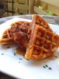 OriginalCinn: Gluten Free Maple Bacon Chicken and Waffles