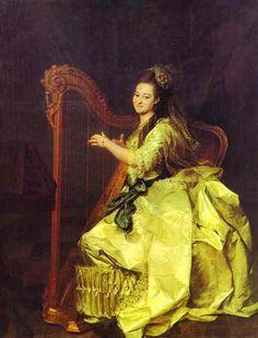 'Portrait of G. I. Alymova', Oil by Dmitry Grigoryevich Levitsky (1735-1822, Ukraine)