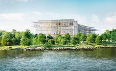Herzog and de Meuron launch designs for the Lombard Odier HQ | new office building designed by Herzog and de Meuron is set to grace the shores of Lake Geneva in 2021. The Swiss architecture practice, known for their sensitive, material-led and site-specific approach, has been announced by global wealth and asset management companyLombard Odier as the designers of its new head office #architecture