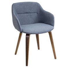 vintage flair mid century modern walnut wood legged dining chair rh pinterest com