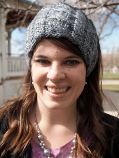 Mixed Grey Knitted Ear Warmer Headband  by KnittingWriter on Etsy, $25.00