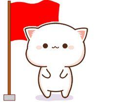 蜜桃猫 Chibi Cat, Cute Chibi, Cat Couple, Gifs, Cute Love Gif, Puppy Face, Kawaii Anime, Cute Puppies, Cute Cats