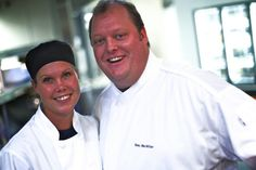 Iron Chef America winner & Sanctuary chef, Beau MacMillan with Executive Sous Chef, Katie.