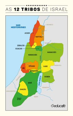 12 tribos de israel - da Tribo de BENJAMIM veio o apóstolo S. Paulo.