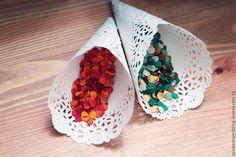 Свадебные аксессуары ручной работы. Ярмарка Мастеров - ручная работа Кулечки для конфетти. Handmade.