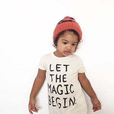 """""""It's very magical how this beanie manages to contain all that hair ! LET THE MAGIC BEGIN  organic tee available at the link in bio. xo #littleurbanapparel"""" Photo taken by @littleurbanapparel on Instagram, pinned via the InstaPin iOS App! http://www.instapinapp.com (09/15/2015)"""