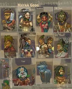 mayan aztec gods and mythology Mythological Creatures, Mythical Creatures, Mythological Monsters, Maya Art, World Mythology, Inka, Legends And Myths, Mesoamerican, Ancient Aliens