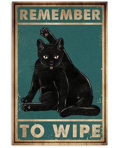 Black Cat Quotes, Black Cat Art, Canvas Wall Art, Canvas Prints, Cat Signs, Cat Posters, Cat Decor, Home And Deco, Crazy Cats