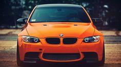 Orange BMW M3 Angel Eyes Wallpaper - http://www.gbwallpapers.com/orange-bmw-m3-angel-eyes-wallpaper/ (Angel Eyes, BMW M3, Orange, Wallpaper / Cars)