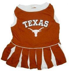 Texas Football Pet Cheerleader Outfit