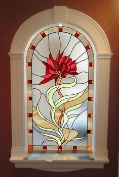 50+Artful Home Decorating Ideas Using Stained Glass Panels_34 #StainedGlassPanels