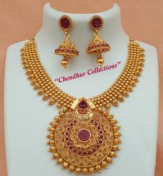 Bridal Jewelry Sets, Womens Jewelry Rings, Gold Jewelry Simple, Gold Jewellery Design, India Jewelry, Jewelry Patterns, Necklace Designs, Gold Necklace, Fashion Jewelry