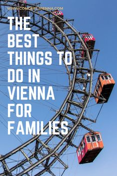 Looking for things to do for when you travel Vienna, Austria with the little ones? Tap this pin to discover the best things to do in Vienna for families! Travel Around Europe, Places In Europe, Stuff To Do, Things To Do, Free Things, Travel Deals, Travel Destinations, Travel Guide, Europe Bucket List