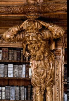 LIBRARY – Library in the monastery of Waldsassen, Bavaria, Germany