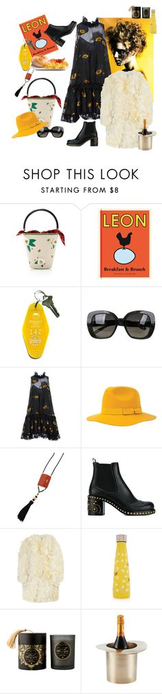 """""""Survival of the fittest- New Years Brunch"""" by juliabachmann ❤ liked on Polyvore featuring Charlotte Olympia, Bottega Veneta, Poesia, Cynthia Rowley, Brixton, Yves Saint Laurent, Miu Miu, S'well and Lunares"""