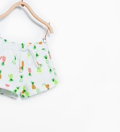 Short enfant imprimé ananas chez Zara #ananas #2015