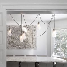 for above island in the kitchen? Custom 2100 per bulb. Pendant Lighting, Chandelier, Window Signs, New Builds, Sconces, Ceiling Lights, Interior Design, Studio, White Stuff