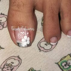 Toenail Art Designs, Flower Nail Designs, Pedicure Designs, Flower Nail Art, Nail Polish Designs, Pretty Toe Nails, Fancy Nails, Diy Nails, Orchid Nails