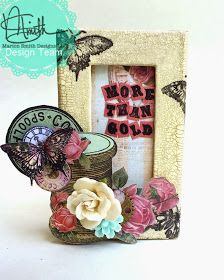 Marion Smith Designs: Garment District altered Matchbox by Keri Sallee featuring Graphic 45 Small Matchbox and DecoArt One Step Crackle