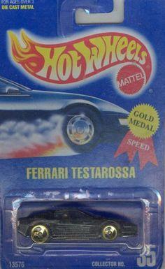 Hot Wheels 1991-35 FERRARI TESTAROSSA All Blue Card 1:64 Scale by Mattel. $0.97. die cast,1/64 scale/licensed/exclusive design. Hot Wheels 1991-35 FERRARI TESTAROSSA All Blue Card 1:64 Scale