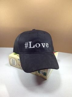 A cap with Love hashtag by SundayNeek on Etsy