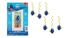 Finding Dory Party Door Poster and Hanging Decorations 7 pc ** ** AMAZON BEST BUY -affiliate link** #DisneyFinding Dory