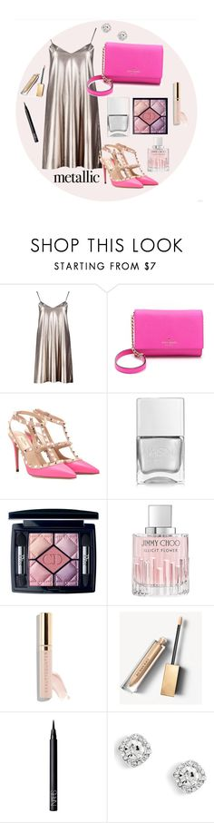"""Без названия #34"" by hotsuin ❤ liked on Polyvore featuring Boohoo, Kate Spade, Valentino, Nails Inc., Christian Dior, Jimmy Choo, Beautycounter, Burberry and NARS Cosmetics"