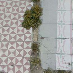 Baldosas a la intemperie en los restos de una casa en la Calle Maura #zaragoza