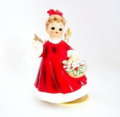 Josef Musical Figurine Angel Girl December Christmas by jarmfarm,