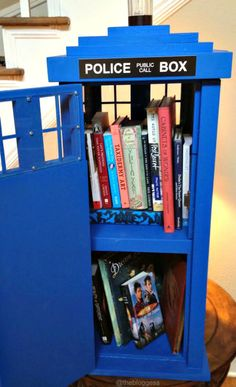 The Bloggess: TARDIS Little Free Library (!!!) Infinitely bigger on the inside!