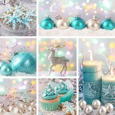 Weihnachtlich dekorieren in Blau und Silber