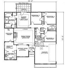 COOL house plans offers a unique variety of professionally designed home plans with floor plans by accredited home designers. Styles include country house plans, colonial, Victorian, European, and ranch. Blueprints for small to luxury home styles. Minecraft Houses Survival, Minecraft Houses Blueprints, House Blueprints, Four Bedroom House Plans, Small House Plans, Garage Floor Plans, House Floor Plans, Interior Columns, Floor Plan Layout
