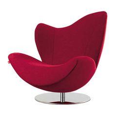 Fauteuil pivotant Wave le rouge en version design fauteuil rouge