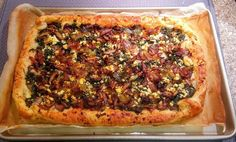 Craving French bistro fare at home? Make this savory tart that is a complex layer of flavor and texture. Get The Chopping Block's recipe. French Appetizers, Cheese Appetizers, Finger Food Appetizers, Appetizer Recipes, French Tart, French Food, Savory Pastry, Savory Tart, Bistro Food