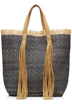 4c8d05f7b4 Cotton-Raffia Woven Shopper detail 1
