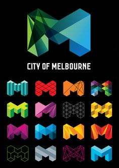 The blue and green give the impression that Melbourne is eco and in touch with nature. The other more colourful logos suggest that Melbourne is lively and buzzing with exciting things to do!